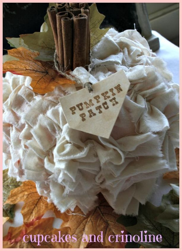 shabby chic pumpkin, crafts, shabby chic