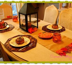 Burlap Fall Leaves Table Runner, Crafts, Seasonal Holiday Decor, Great For  A Fall