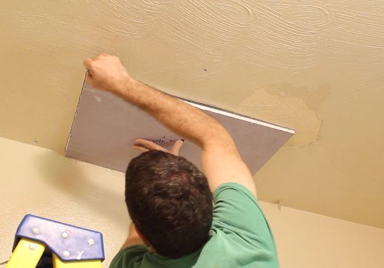 Trace the new drywall outline on your ceiling or wall