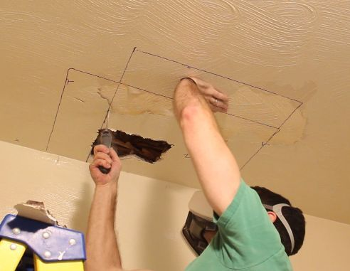 Cut out the old drywall