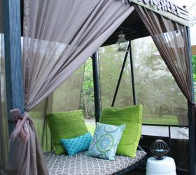 Amazing How To Add Curtains To An Outdoor Covered Patio Swing, Outdoor Living,  Reupholster,