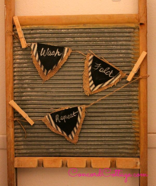 diy laundry room vintage washboard art vintagedecor, chalkboard paint, crafts, repurposing upcycling, wreaths, Here s an easy Diy Washboard Art for your Laundry Room