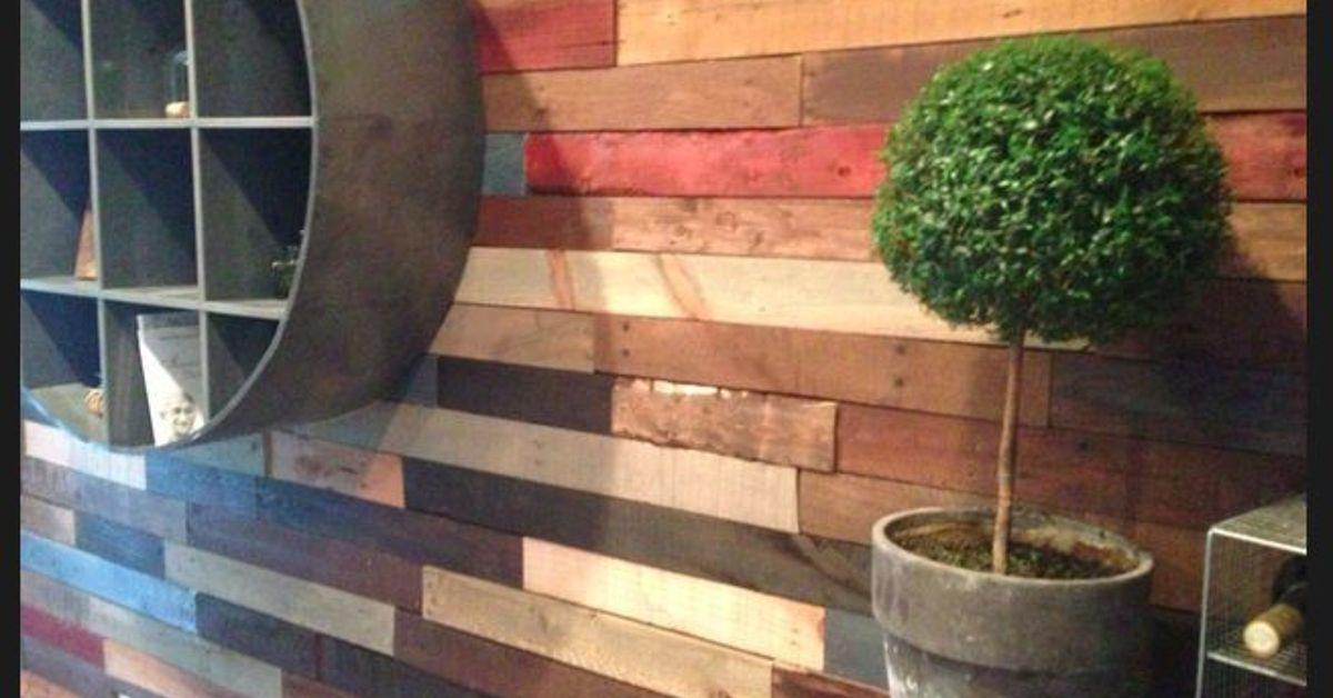 Pallet Wall Reclaimed Wood Hometalk