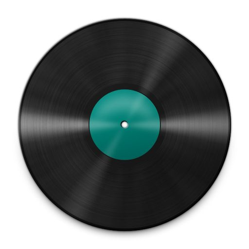 Use black marker to fill in the label of the vinyl