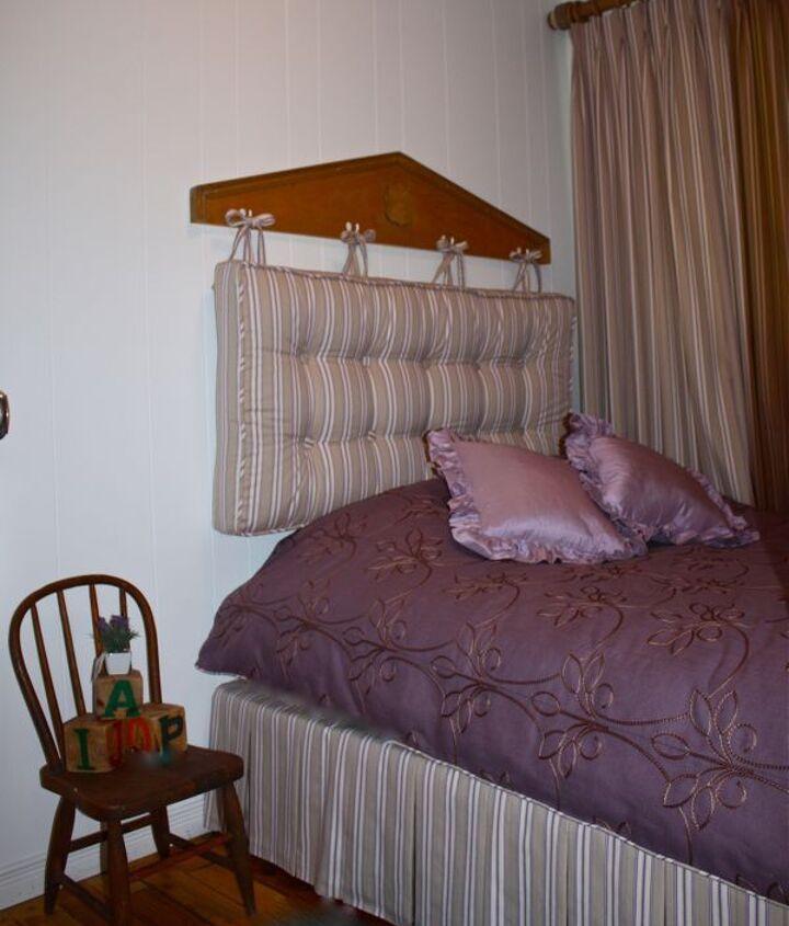 cottage diy headboard for a little girls room, bedroom ideas, home decor