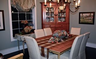 challenge fall dining room display using only what i already had, crafts, repurposing upcycling, seasonal holiday decor, dining room finished for fall