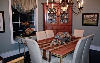 Challenge... Fall dining room display using only what I already had.