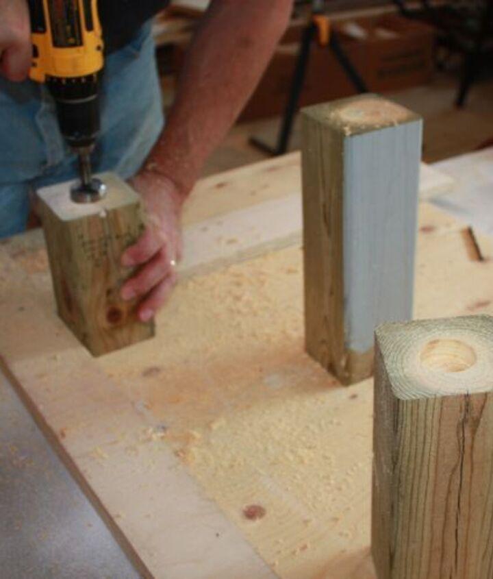 Drilling holes for tea lights