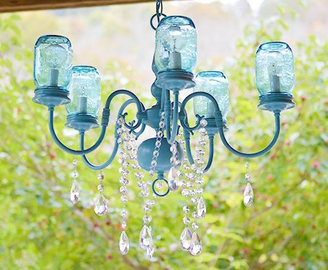 diy mason jar chandelier, diy, lighting, mason jars, repurposing upcycling, DIY Mason Jar Chandelier