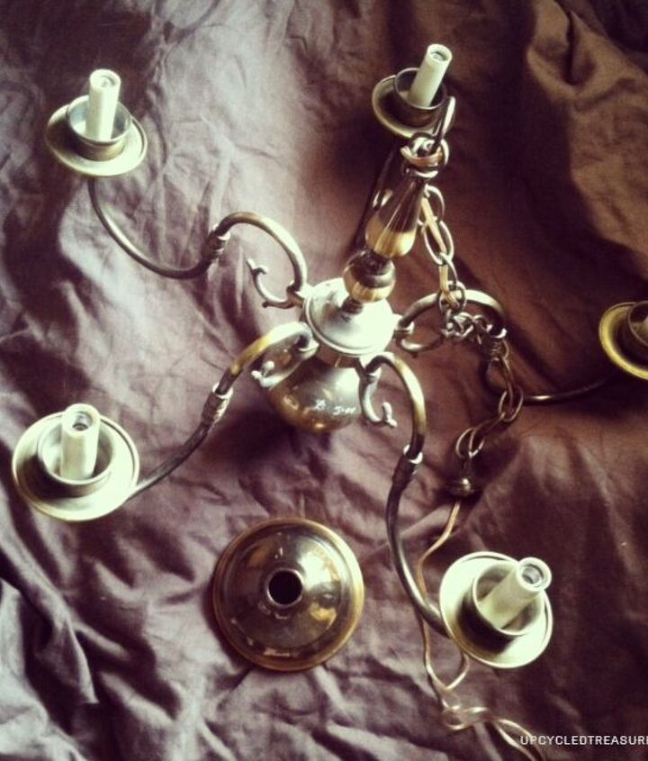 diy mason jar chandelier, diy, lighting, mason jars, repurposing upcycling, This is the before photo
