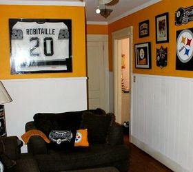 How To Paint A Steelers Football Ceiling Fan That Your Hubs Will Love,  Lighting,