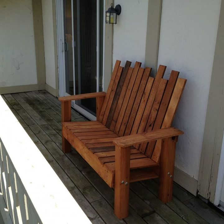 Do it yourself patio furniture with pallets patio furniture out of repurposed pallet into a do it yourself bench hometalk solutioingenieria Images