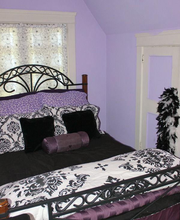 Teen Fun Purple Black and Zebra Bedroom | Hometalk