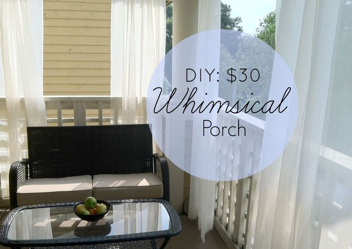 Hang sheer curtains on your porch for added privacy and a touch of whimsy!