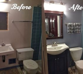Attractive Diy Bathroom Renovation, Bathroom Ideas, Painting, Remodeling, This Is A  Before And Pictures