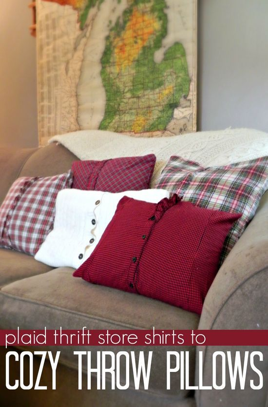 Ready for the cooler weather!  http://www.madincrafts.com/2013/11/plaid-thrift-store-shirts-to-cozy-throw.html