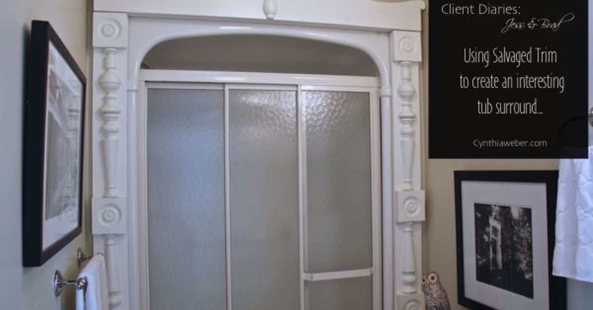 Using Salvaged Trim to Upgrade a Basic Builder Shower Surround ...
