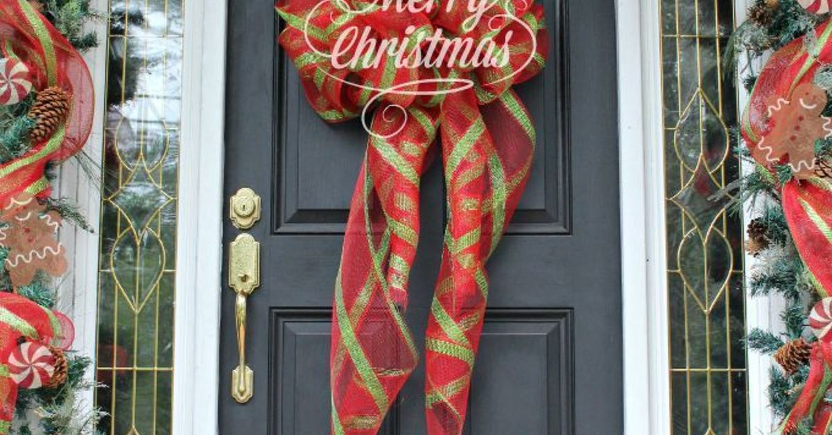 Wreaths of Christmas Past Be Gone! Go for the Best BIG DIY Bow ...