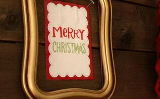 12 days of easy christmas decorating gift bag wall art, christmas decorations, crafts, repurposing upcycling, seasonal holiday decor
