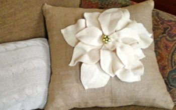 Poinsettia Pillow Christmas Hometalk