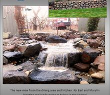 pondless waterfall addition to the backyard view, landscape, outdoor living, ponds water features, Before and after shots