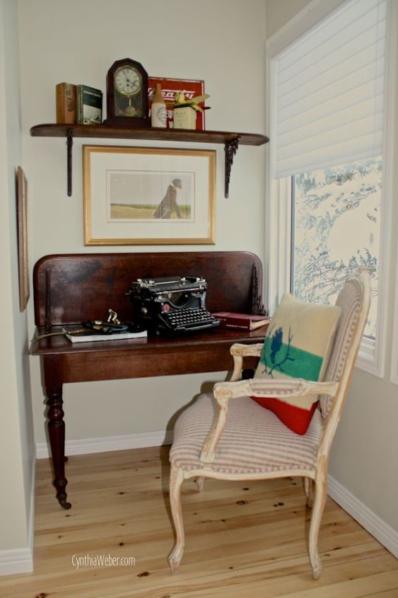 Upcycled Drop Leaf Table Becomes A Custom Desk For Cozy Office Nook Home Decor