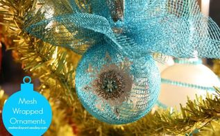 wrapped mesh ornaments, christmas decorations, crafts, seasonal holiday decor, This would be a fun ornament to make at a holiday gathering