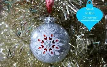 mesh stuffed ornament, christmas decorations, crafts, seasonal holiday decor, You can make a beautiful ornament in minutes
