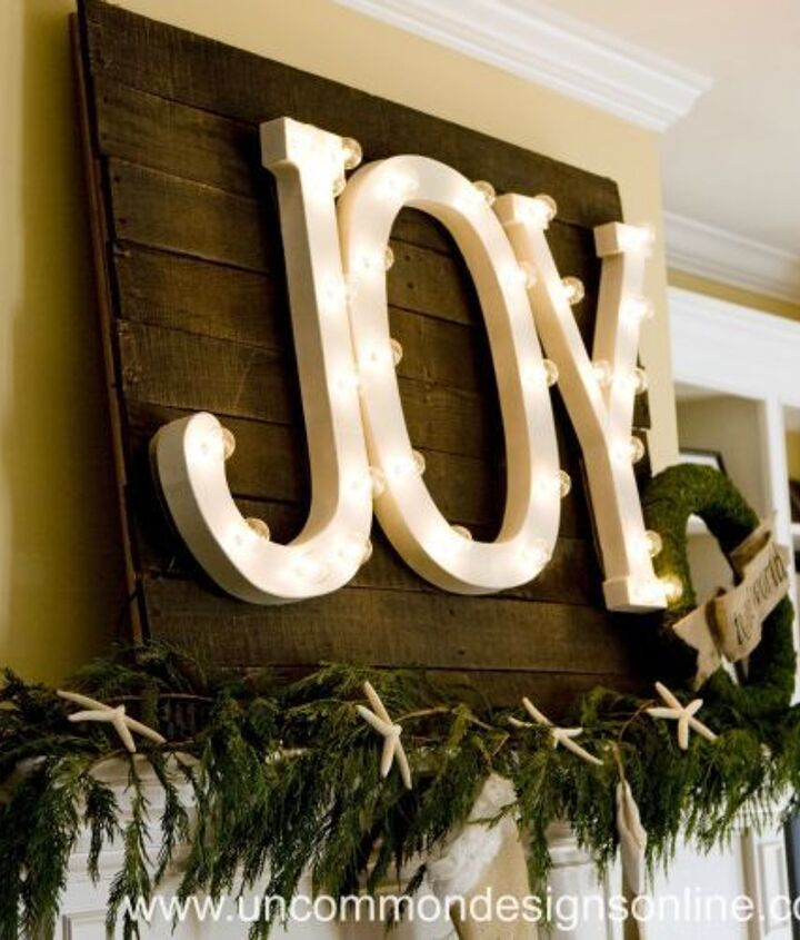 joy to the world christmas mantel, christmas decorations, crafts, pallet, seasonal holiday decor