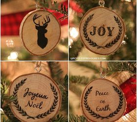 Personalized Wood Slice Christmas Ornaments & Gifts | Hometalk