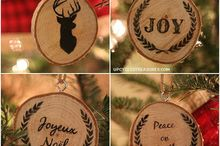 personalized wood slice christmas ornaments gifts, christmas decorations, crafts, seasonal holiday decor, DIY Wood Slice Christmas Ornaments with easy wood transfer graphics These would make for great customized gifts