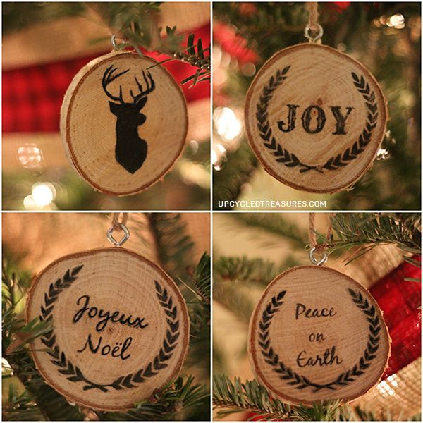 Personalized Wood Slice Christmas Ornaments Gifts Decorations Crafts Seasonal Holiday Decor