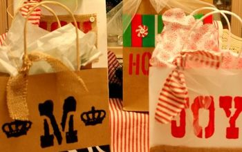 how to make fabulous gift bags from 2 1 dollar tree bags, crafts