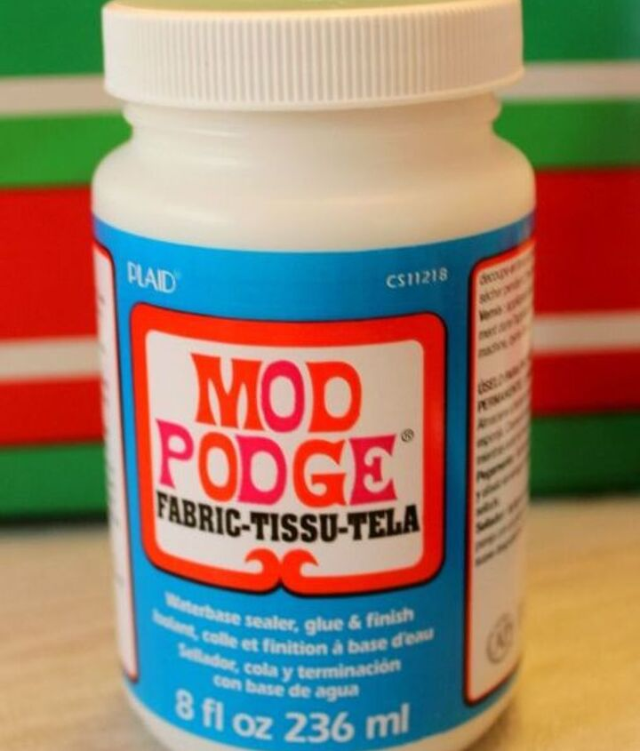 I love using Mod Podge when I'm not using tape.
