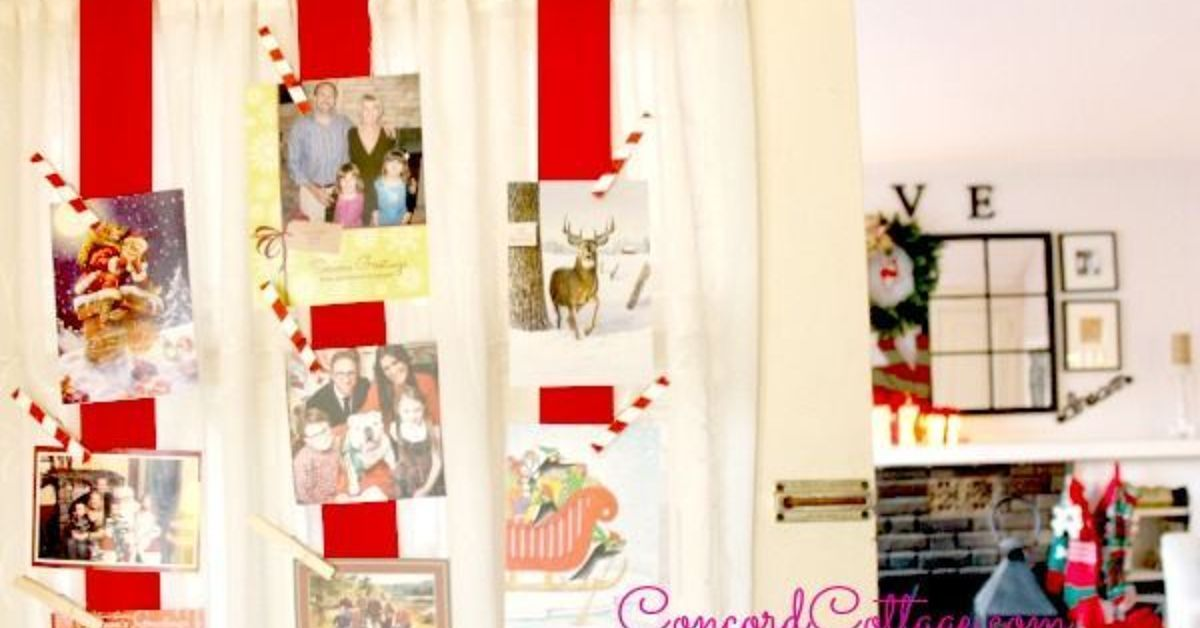 Great Way to Display Christmas Cards & Family Pictures | Hometalk