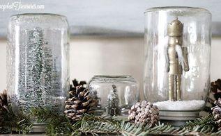 it s not too late for mason jar snow globes, crafts, mason jars, repurposing upcycling, seasonal holiday decor, Mason Jar Snow Globes