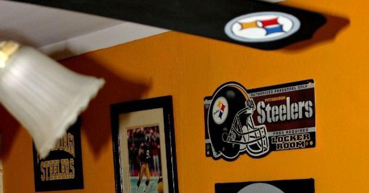 Pittsburgh Steelers Football Themed Tv Room | Hometalk