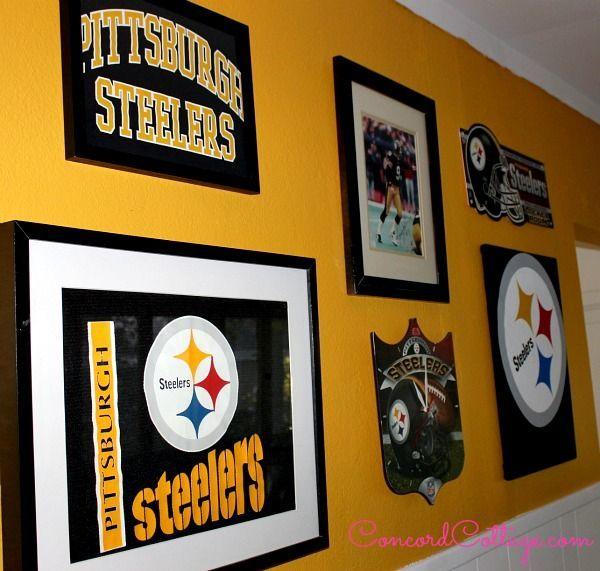 pittsburgh steelers football themed tv room hometalk