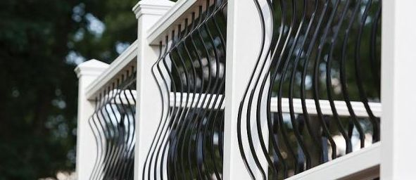 Beautiful curved iron design