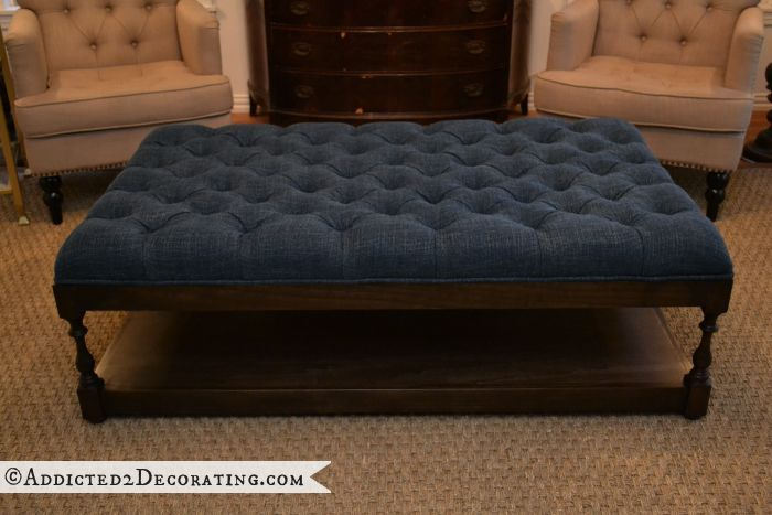 DIY Diamond Tufted Coffee Table Ottoman | Hometalk