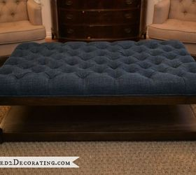 Diy Diamond Tufted Coffee Table Ottoman, Painted Furniture, My Completed  Diamond Upholstered Coffee Table
