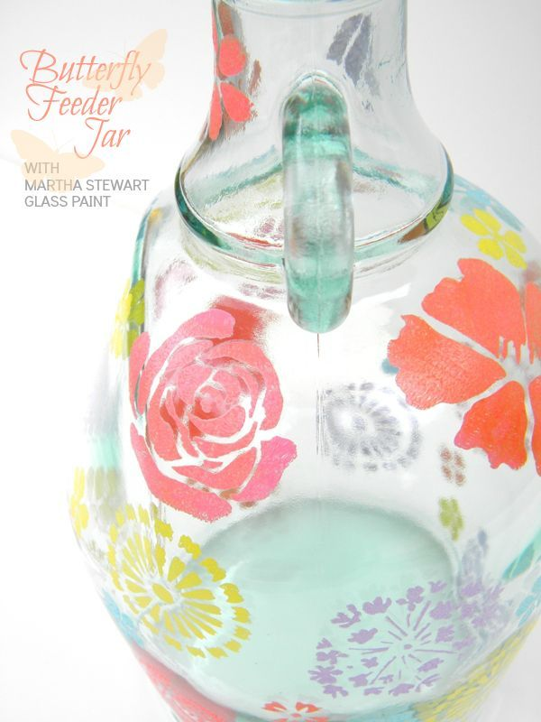 Paint an old jar or jug with glass paints.