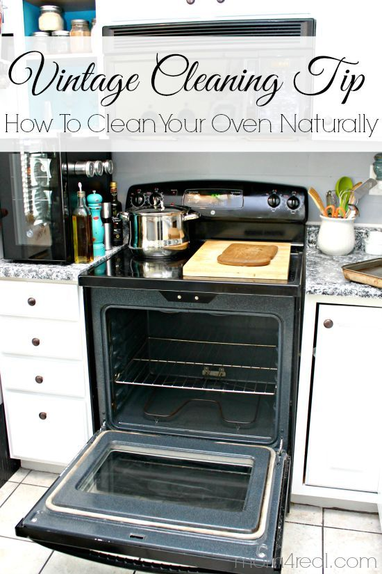Use 2 ingredients to clean your oven naturally!