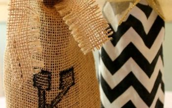 how to make pottery barn inspired wine bags inspiredby, crafts, So easy to make