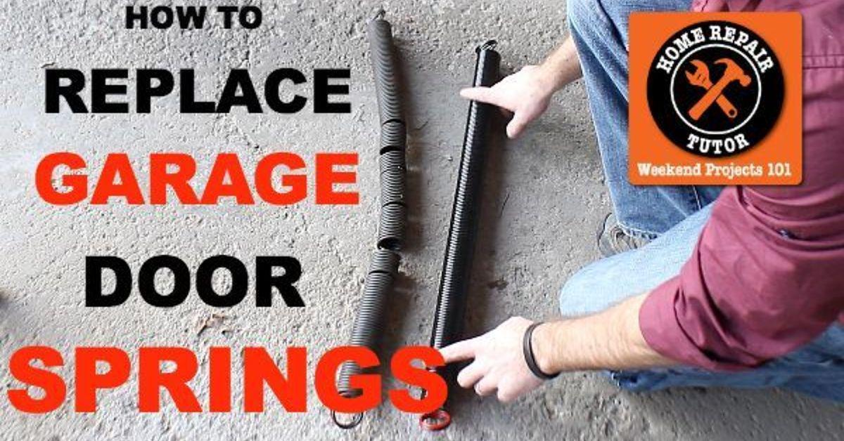 Diy Replace Garage Door Extension Springs Garage Door Ideas