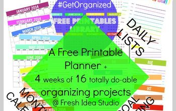 free printable planner project organize 2014, crafts, organizing, GetOrganized in 2014 with Fresh Idea Studio s Free 27 page Printable Planner