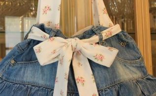 how to make a ruffled tote bag out of a jean skirt, crafts, repurposing upcycling