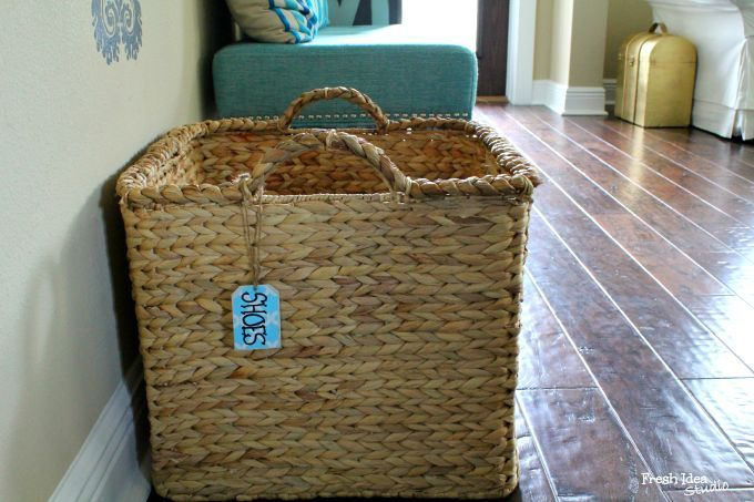 Basket are your best friend when it comes to organizing. See how this and other things you already have in your house can help you #GetOrganized quick!