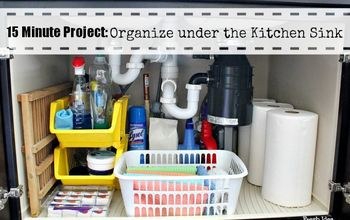 do you know what s lurking under your kitchen sink right now, cleaning tips, kitchen design, Start your timer because we re doing a fast furious re haul of one of the most important areas in your kitchen under the sink