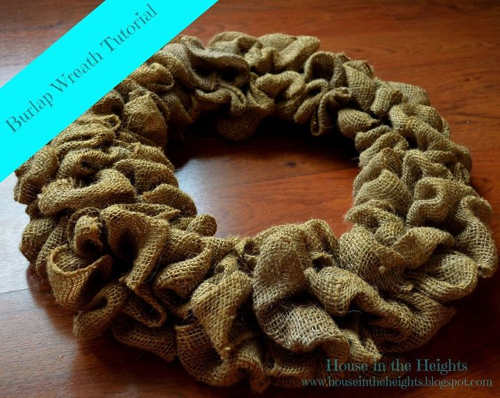 burlap wreath tutorial, crafts, wreaths, Click on the on the blog link below for the full tutorial
